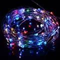 HAHOME 33Ft 100 LEDs Indoor and Outdoor Christmas String Lights