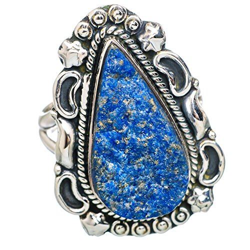 Ana Silver Co Rough Azurite 925 Sterling Silver Ring Size 8 RING777093 (Azurite Ring compare prices)