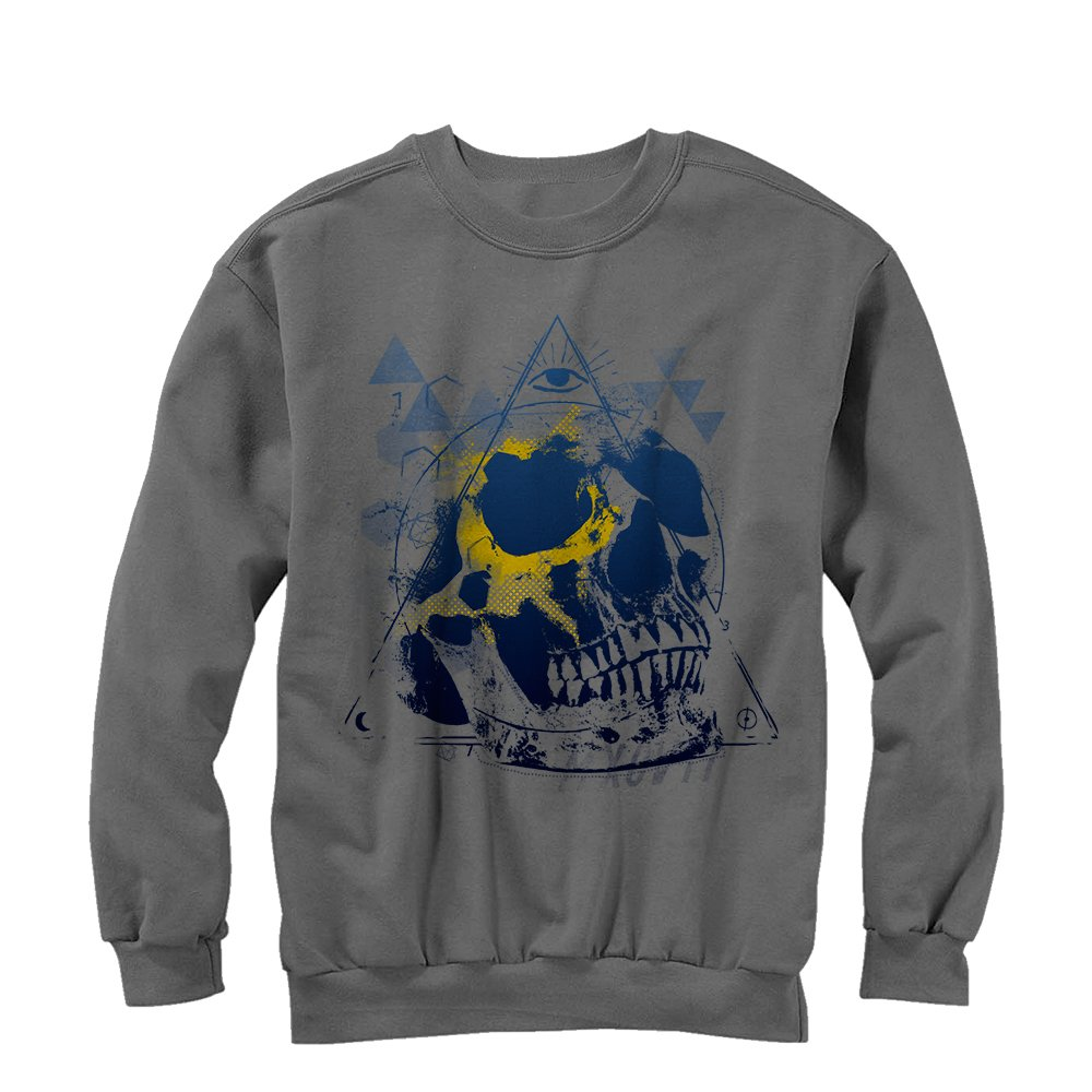 Lost Gods Skull Triangle Mens Graphic Sweatshirt