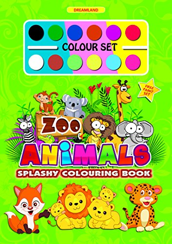 Splashy Colouring Book: Zoo Animals Image