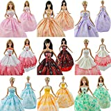 Toy - E-TING 5Pcs Fashion Handmade Clothes Dresses Grows Outfit for Barbie Dolls