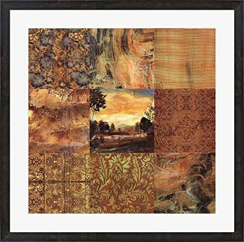 Transitions I by Valentina Di grazzia Framed Art Print Wall Picture, Espresso Brown Frame with Hanging Cleat, 31 x 31 inches (Valentina Espresso compare prices)