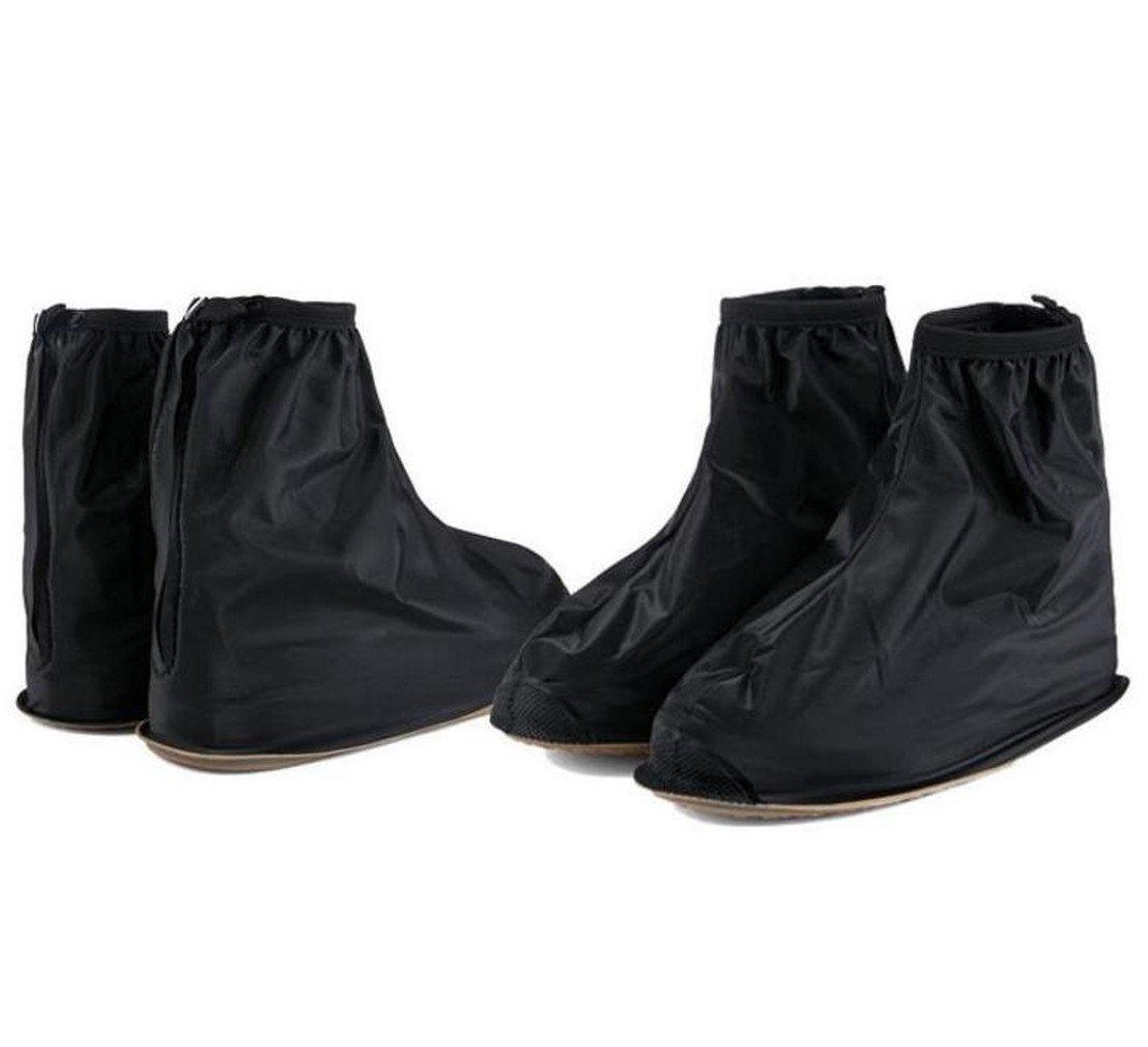 Harimao レイン シューズカバー 防水 雨 雪 泥除け 靴 携帯 雨具 男女兼用 通勤 通学 防水ケース付き (2.L(黒色))