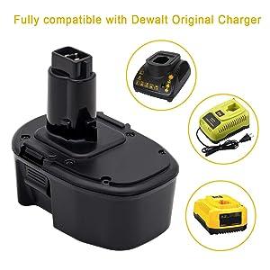 KINGTIANLE Upgraded to 3.6Ah NiMH DC9091 Replacement for Dewalt 14.4V XRP Battery DW9091 DW9094 DE9038 DE9091 DE9092 Replace for Dewalt 14.4 Volt DC DW XRP Series Battery 2 Packs (Color: BLACK, Tamaño: 14.4V DC9091 3.6Ah)