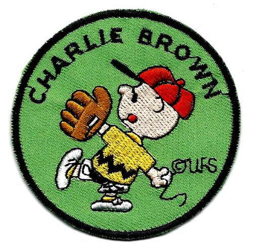 Charlie Brown baseball glove catcher pitcher baseball hat  Embroidered Peanuts Iron On / Sew On Patch