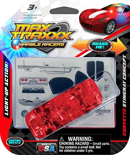 Max Traxxx Corvette Stingray Light Up Marble Racer Car