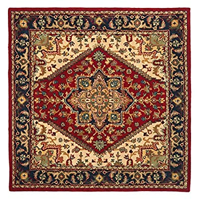 Safavieh Heritage Collection HG625A Handmade Red Wool Area Rug