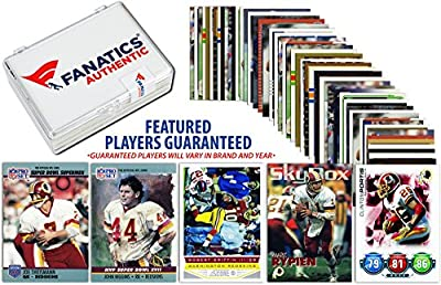 Washington Redskins Team Trading Card Block/50 Card Lot - Fanatics Authentic Certified - Football Team Sets