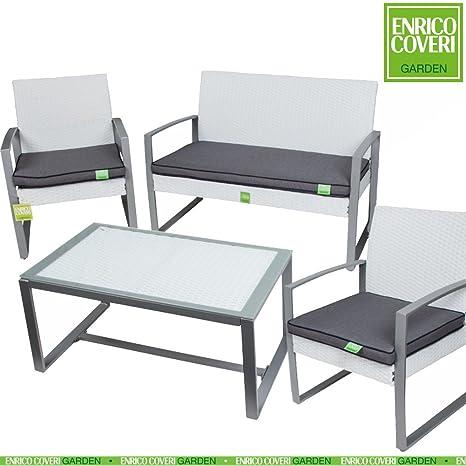 Salottino completo 1 tavolo rettangolare+2 sedie+1 poltrona in acciaio ,