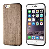 iPhone 6S Case / iPhone 6 Case, BELK [Soft Wooden Case] Series - Natural Pliant Processed Wood Back Cover for iPhone 6 & iPhone 6S - 4.7 inch, Ultra Slim and Original Fit with Rubber Bumper --- Walnut