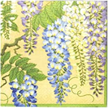 Entertaining with Caspari Wisteria Paper Luncheon Napkins Gold Pack of 20