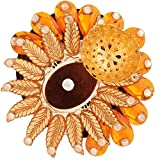 Ghasitaram Gifts Orange Sun Floating Light Diya