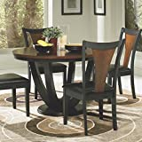 Coaster Home Furnishings Casual Dining Table, Black and Cherry