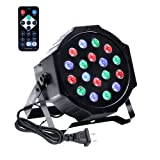 Stage Lights,U`King18 LED Par Lights for Stage Lighting with RGB Poweful for DJ Club Wedding Family Party Disco (Color: Black 18 stage lights)