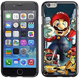 A-type Colorful Printed Hard Protective Back Case Cover Shell Skin for 5.5'' iPhone 6 Plus ( Mario VS Video Games )