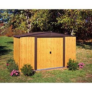 Arrow WL65 Woodlake 6-Feet by 5-Feet Steel Storage Shed