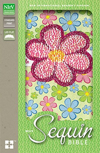 Holy Bible: New International Reader's Version, Flower Sparkle Sequin, Flexicover