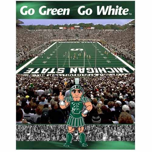 Picture of Fun Racing Reflections Michigan State Spartans 500 Piece Puzzle Set 16 X 20 (B003YHXFDK) (Jigsaw Puzzles)