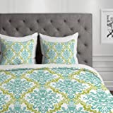 DENY Designs Rebekah Ginda Design Lovely Damask Duvet Cover, King