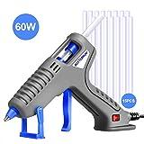Glue Gun, BOTTERRUN 60W Mini Hot Melt Glue Gun Kit with 15pcs 5.9inch Adhesive Glue Sticks and Practical Stand, Quick Heating for DIY Arts Crafts Carpets Sealing School Home Repairs (Color: Gray)