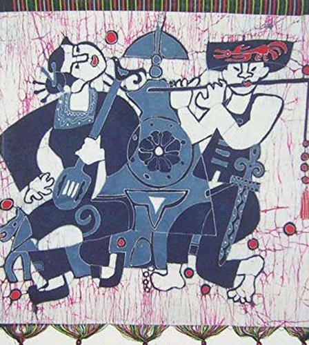 "Batik Folk Art Painting 27x28"" Miao Hmong Artist #434B"