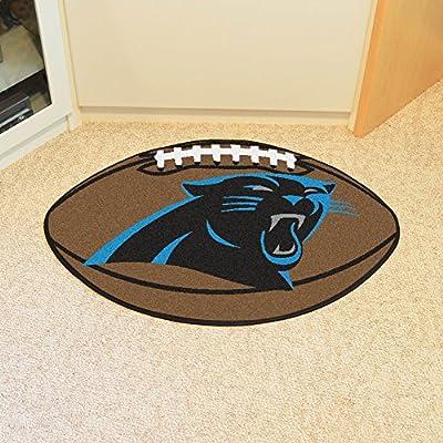 "Fan Mats 5696 NFL - Carolina Panthers 22"" x 35"" Football Shaped Area Rug"