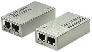 Manhattan Rallonge HDMI 1.2 Cat 5e/6 Argent 60 m