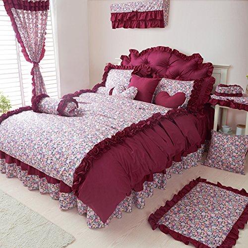 Red Bean Pie Grayish Red Duvet Cover Set Princess Bedding Girls Bedding Women Bedding Gift Idea, Queen Size