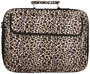 Leopard Print Laptop Computer Messenger Bag - 15 Inch from World Traveler