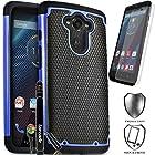 Motorola Droid Turbo / XT1254 (Fits Ballistic Nylon Version), COVRWARE® 3 in 1 Bundle - Armor Defender Series Protective Case [Free HD Film & Aluminum Sensitive Cap Stylus Pen] - Blue