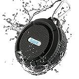 Dylan Bluetooth スピーカー 防水(IP65等級)/防塵/耐衝撃 ノイズクッションマイク内蔵 TFカード対応 吸盤式 アウトドア(ブラック)