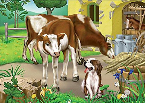 D-Toys Farm Cows Jigsaw Puzzle, 35-Piece