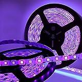 Joygo 16Ft 5050 SMD Waterproof 300 UV Ultraviolet LED Black Light Night Fishing Strip