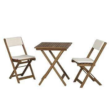 Siena Garden 673122 Almeria Set 2x Klappsessel + Tisch Akazie