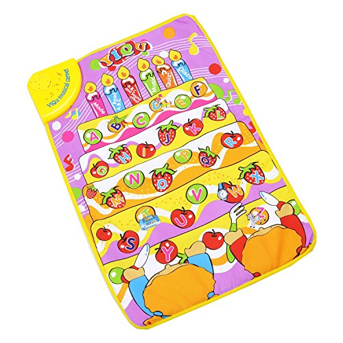 HGD® Fruit Musical Music Touch Play Alphabets Singing Baby Gym Kids Carpet Mat - 1