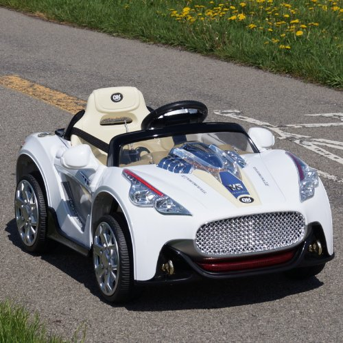 New Maserati Style Battery Powered - 12V Battery Gt Roadster ,2 Motors, Opening Doors , Remote Control,Mp3 Player Input. 2015 Model.