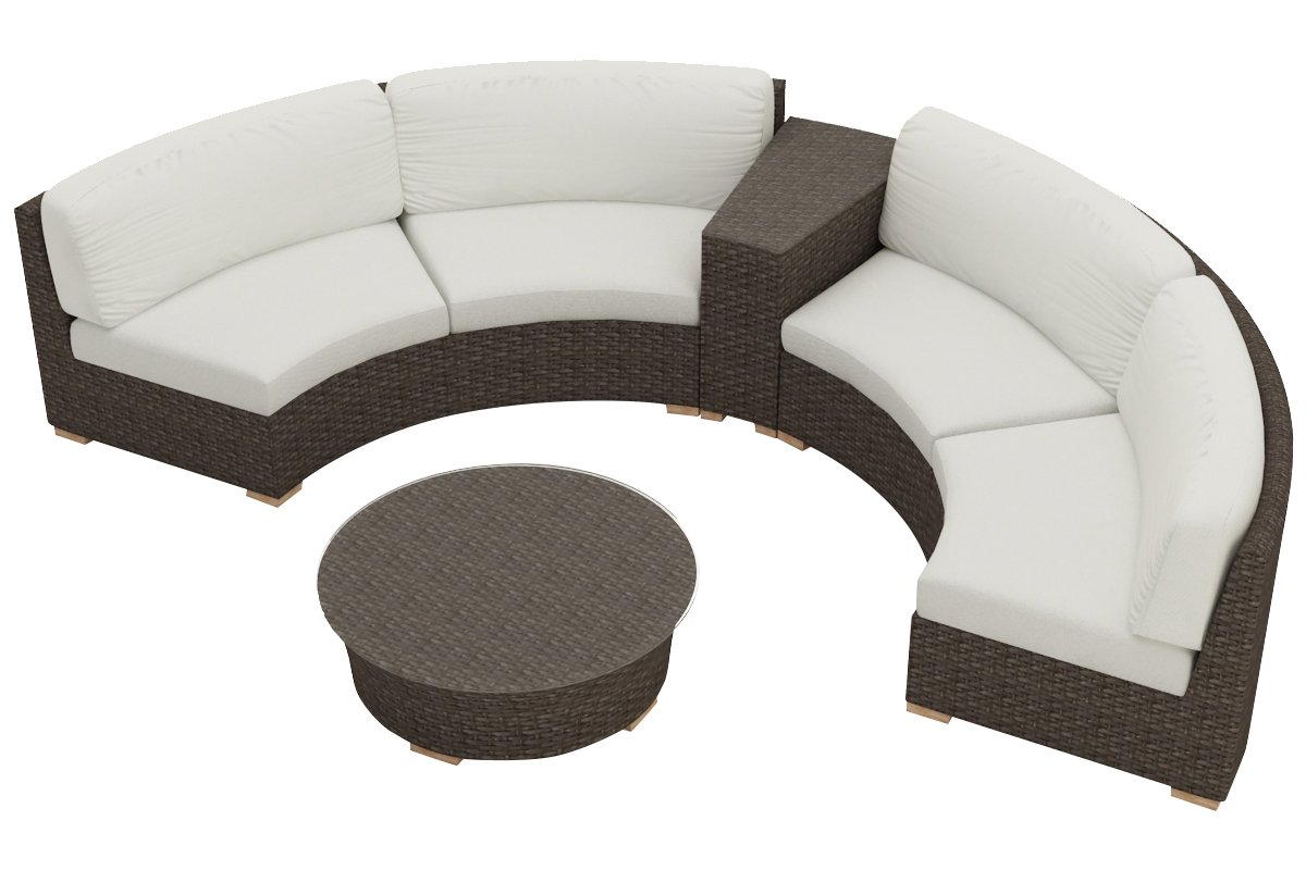Harmonia Living 4 Piece Arden Curved Sectional Cushion Set - Canvas Natural