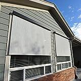 Keystone Fabrics 6215 Baja Exterior Roll Up Solar Shade, Monterey, 8-Feet by 6-Feet