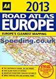 AA 2013 Road Atlas Map Europe A4 Size Latest Edition