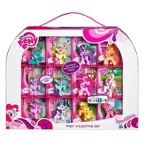 My Little Pony Exclusiv 36812 – Sammelbox mit 12 Ponys (ca. 5 cm) und 12 Sammelkarten, davon 6 Special Edition Ponys günstig bestellen