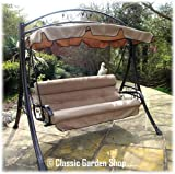 LUXURY RIMINI GARDEN HAMMOCK SWING SEAT 3-4 SEATER