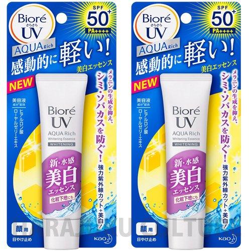 biore-sunscreen-sarasara-uv-aqua-rich-white-essence-spf50-pa-33g-new-2015-2pcsgreen-tea-set