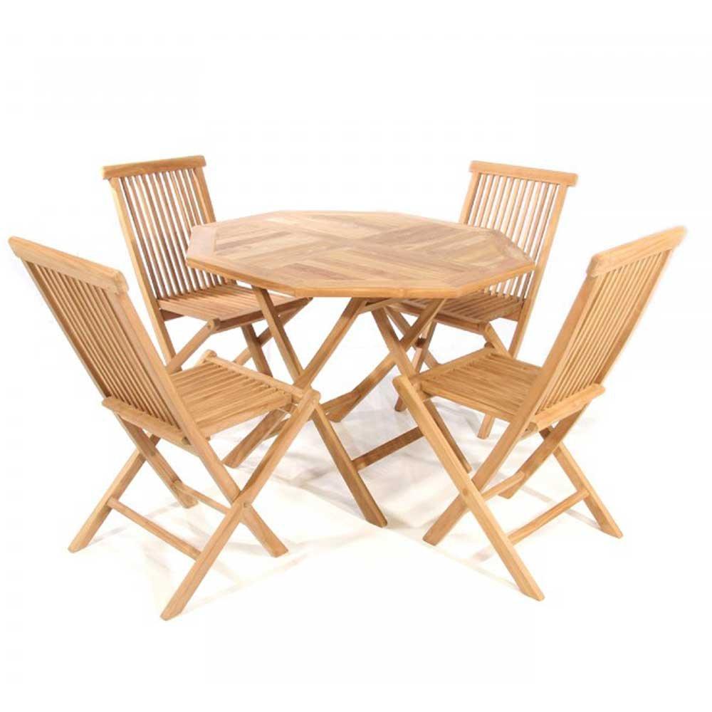 Garten Tischgruppe aus Teak Massivholz online kaufen (5-teilig) Pharao24