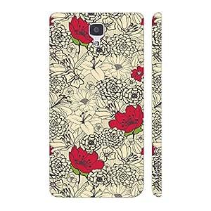 Enthopia Designer Hardshell Case Flowers 12 Back Cover for Xiaomi MI4
