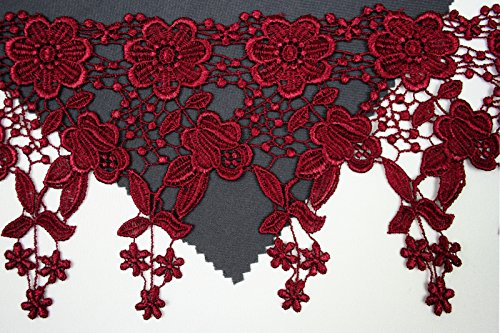 "Best Price Altotux 4.5"" 12 Color Dangling Embroidered Floral Venice Lace Trim Guipure By Yd (Bu..."