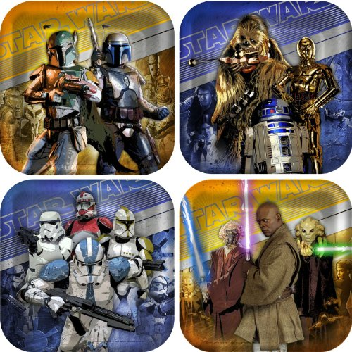 Star Wars Generations 3D Square Dessert Plates Party Accessory