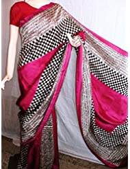 Madhumita's Boutique Designer Block Print Silk Saree