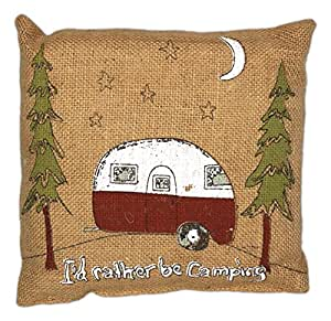 Primitive Throw Pillows For Couch : Amazon.com - Country House Collection Primitive Funny Burlap Jute 8