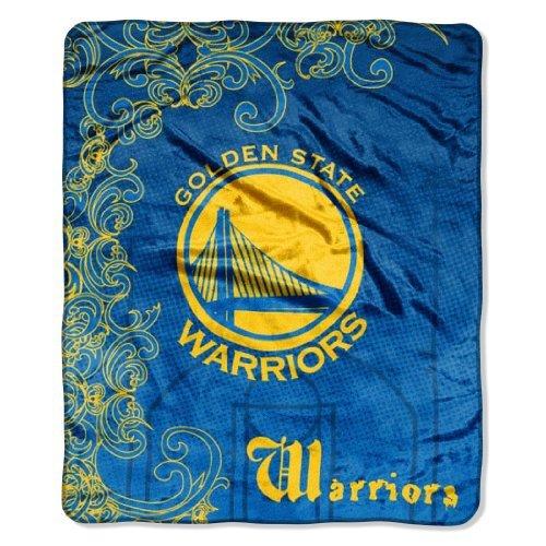 Nba Golden State Warriors Micro Raschel Throw Blanket, Street Edge Design front-505015
