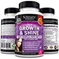 Hair Growth and Shine Vitamins with Biotin Formulated for Women. Gluten Free Non-GMO hair growth vitamins. Longer, Stronger, Silky and Soft Hair. Developed by Doctors, Made in USA Money Back Guarantee from Schwartz Bioresearch